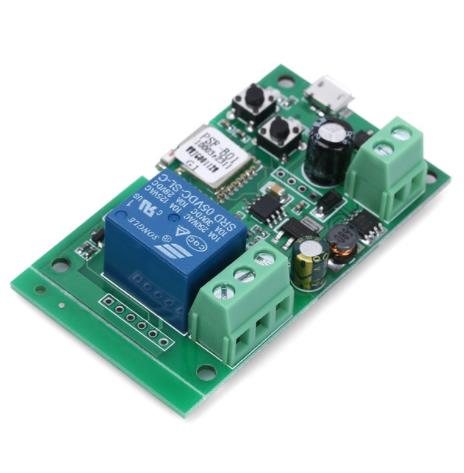 Mode 5 V 32 V Sonoff WiFi Draadloze Smart Switch Tippen/Zelfsluitend Relaismodule voor IOS Android toegangscontrole Systeem