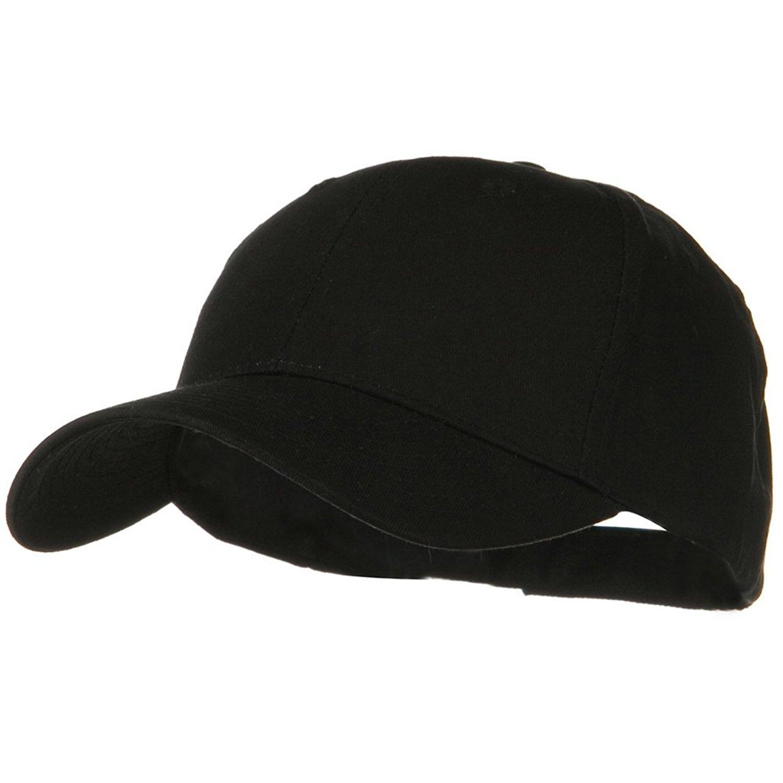 3e0582be187 Get Quotations · Otto Caps Solid Cotton Twill Low Profile Strap Cap - Black