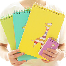 office and school stationery dear deer hard cover spiral notebook with color pages