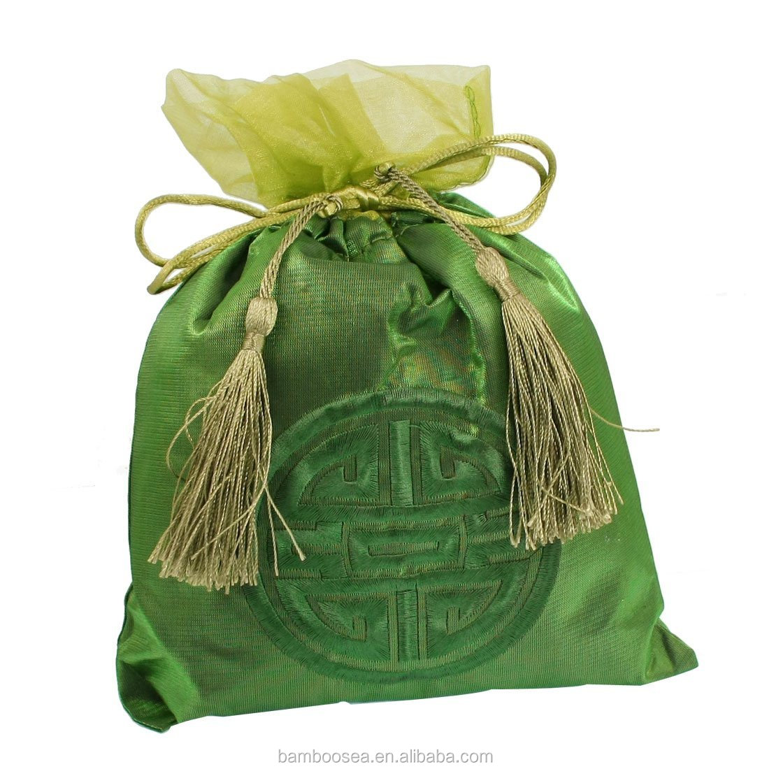 ar Auto Green Embroidered Bag Bamboo Charcoal Air Deodorant Decoration