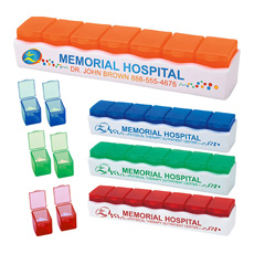 Top sales rectangle transparent colorful emergency medicine drug case travel portable braille PP plastic 7 days daily pill box