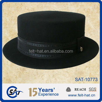 New Women Wool Felt Hats Vintage Womens Flat Top Hat - Buy Flat ... 93f11d07ad5