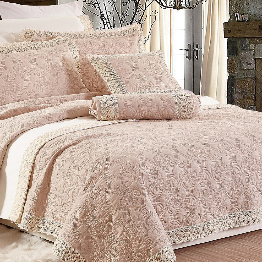 China Supplier High Quality Hand Woven Bedspread / Queen Size Handmade Quilted Waterproof Home Goods Bedspread