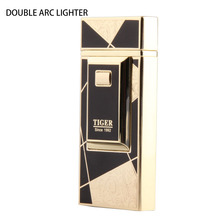 China selling factory direct USB charging lighter dual arc fashion men lighters wholesale 01