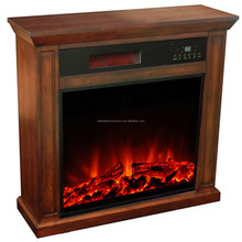 Factory direct compact electric fires with wood mantel