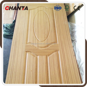 China wholesale decorative interior wood veneer MDF HDF door skin cheap price