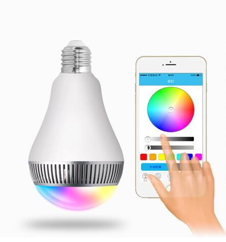 APP Controlled Intelligent bluetooth speaker led lamp smart rgb color changing dimmable led bulb