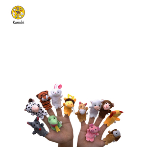 Realistic plush mini animal finger puppets cute baby toys educational