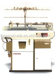 Jacquard glove knitting machine