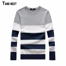 Plus Size Pullover 2015 New Arrival Men's Fashion Striped Simple Soft Pullover Male Casual Outdoor Easy Match Sweaters MZL427