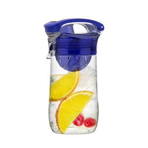 sport water bottle drinking with fruit infuser
