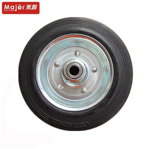 160/40-80 solid small rubber wheels for trolley