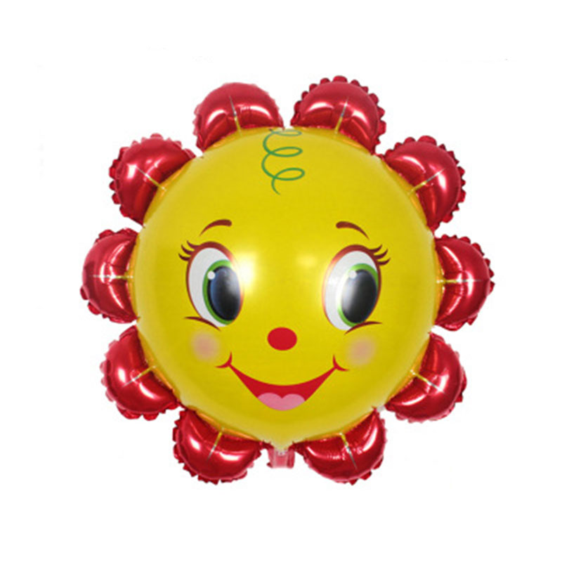 Cartoon Yellow Smile Sun Flower Foil Balloons Aluminum Balloon Kids Baby Shower Birthday Party Bedroom Decoration