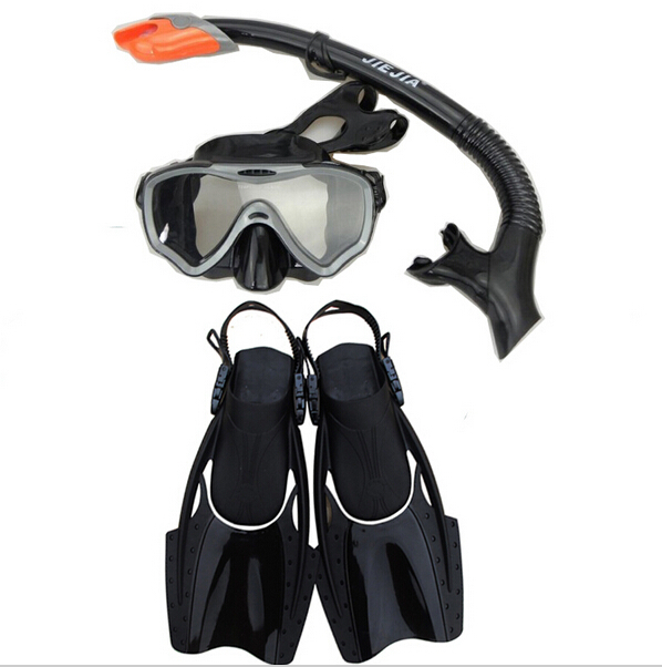 Diving kits for swimming diving equipment,full dry breathing tube set,diving mask,flippers,Silicone mask, silicone mirror with
