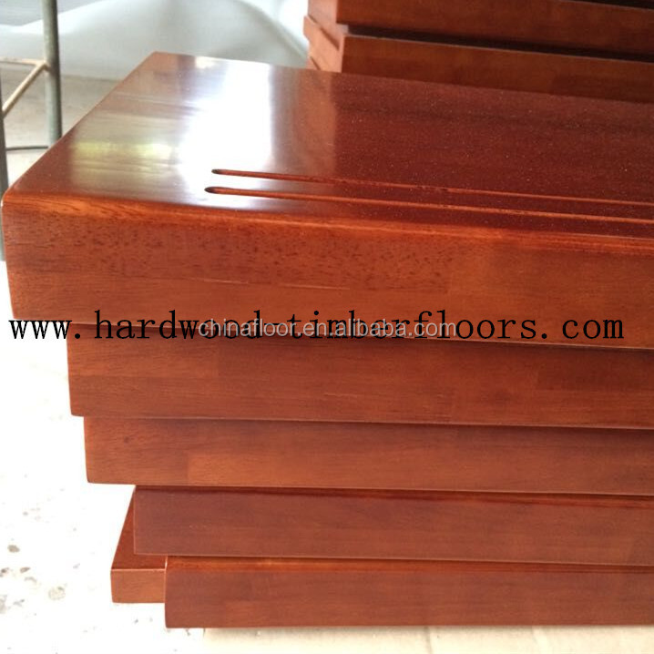 Foshan Factory Brazilian Cherry Wood Stair Treads