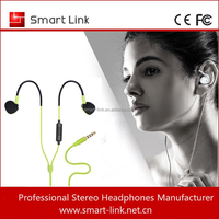 Stereo Sport earclip earbuds with mic for MP3 and Samsung Apple Ipod Iphone Huawei Xiaomi