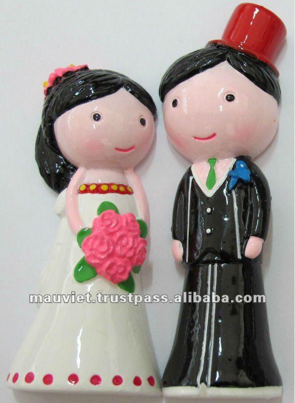 Polyrésine Vietnamienne Poupées De Mariage Figurine Cadeau Aimant De Réfrigérateur Buy Aimant De Réfrigérateurfigurine En Polyrésinepoupées De