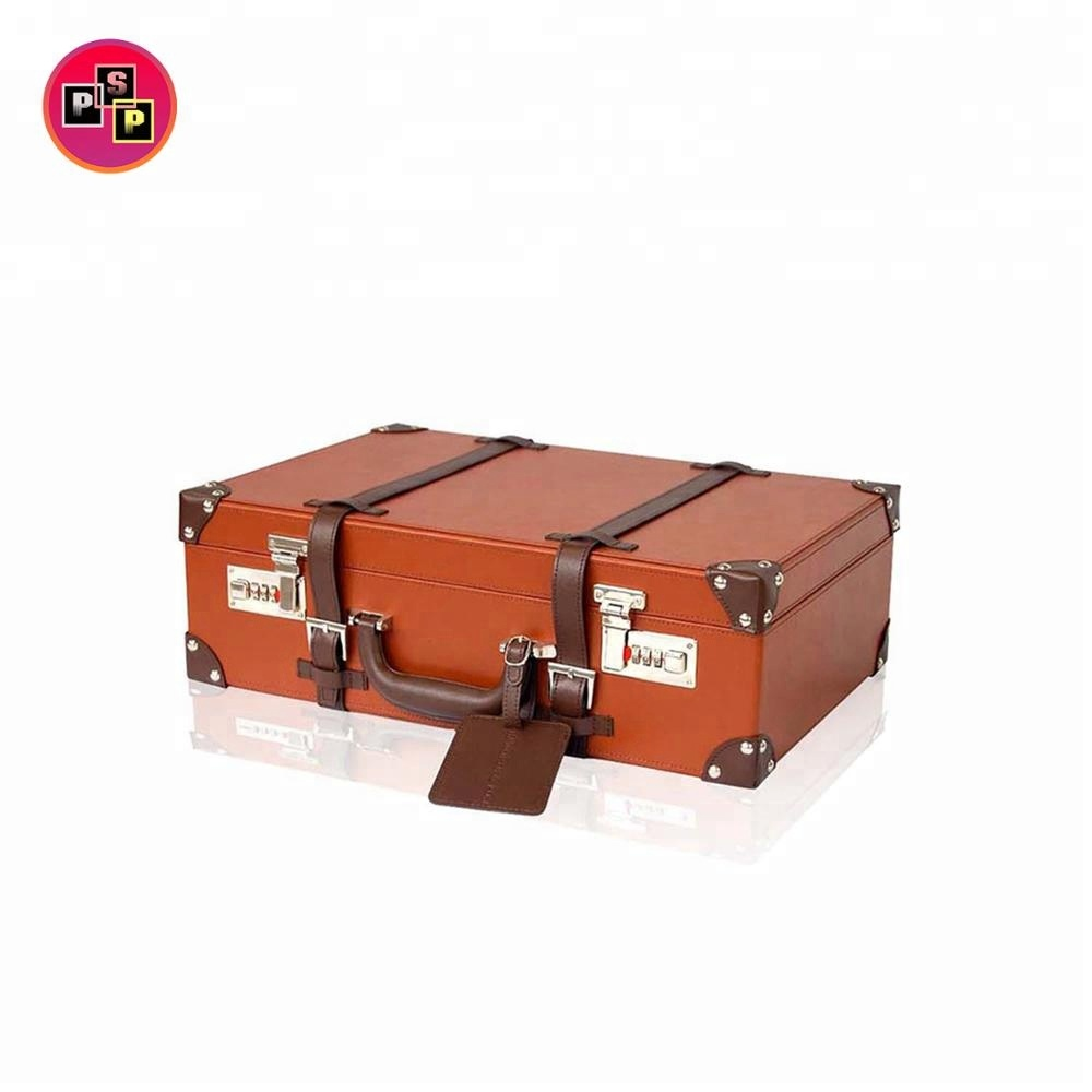 Factory Custom High Quality Leather Suitcase for Travelling