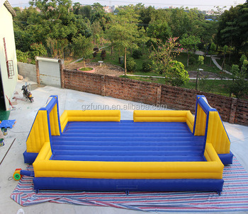 Customized inflatable water soccer field inflatable giant soccer playground on sale