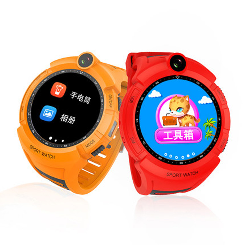 Aipker new camera kids watch,TFT round touch screen GPS kids watch Q610 with 400mAh battery