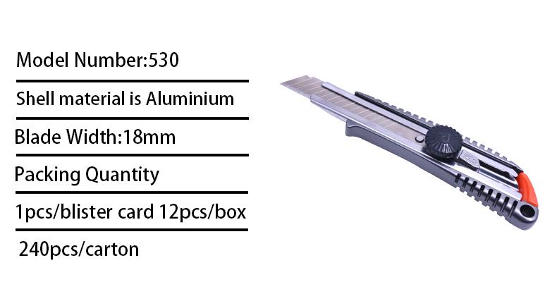 18 MM metal kesici bıçak 0.5mm bıçak Keskin ve dayanıklı maket bıçağı