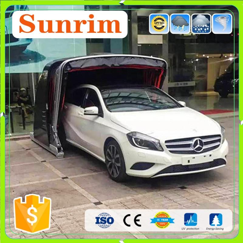 Intrekbare elektrische vouwen garage auto cover garages - Garage mobile per auto ...