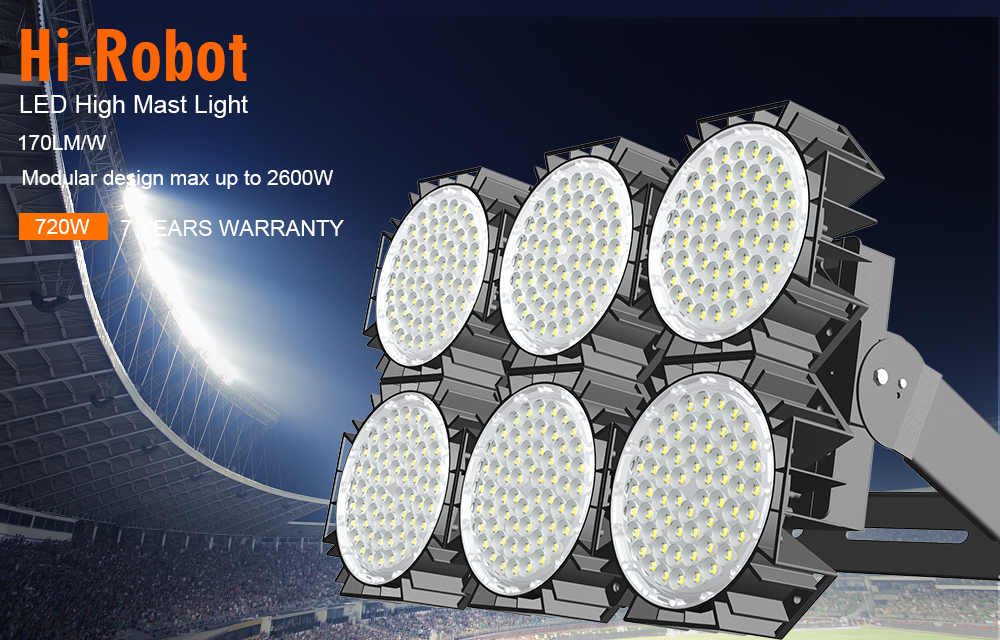 UNIQUE DESIGNED dimmable IP66 720W 800W stadium outdoor led flood light