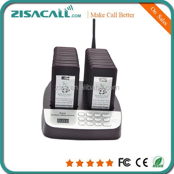 Wireless queue call page system guest calling pager wireless restaurant coaster paging system