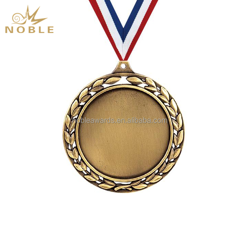Laurel Wreath Gold Silver Bronze Plating Blank Medals And Trophies China