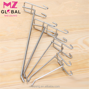 Gridwall Supermarket Equipment Shelf Wire Hooks for hanging clothes wire mesh grid wall hook display