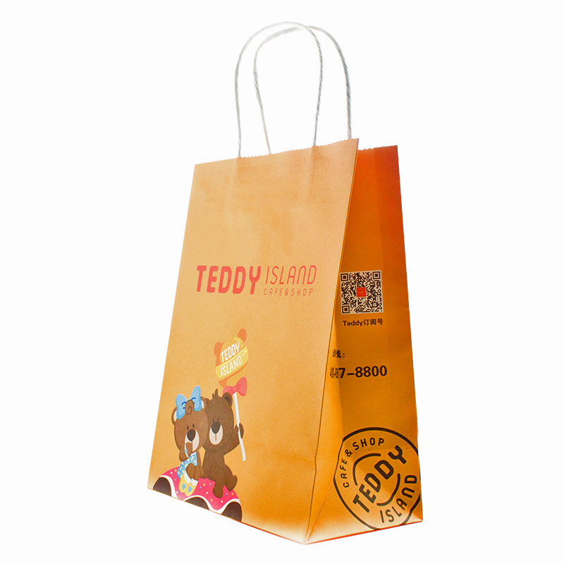 Factory Make Direct Sale Food Grade Kraft Brown Paper Bag