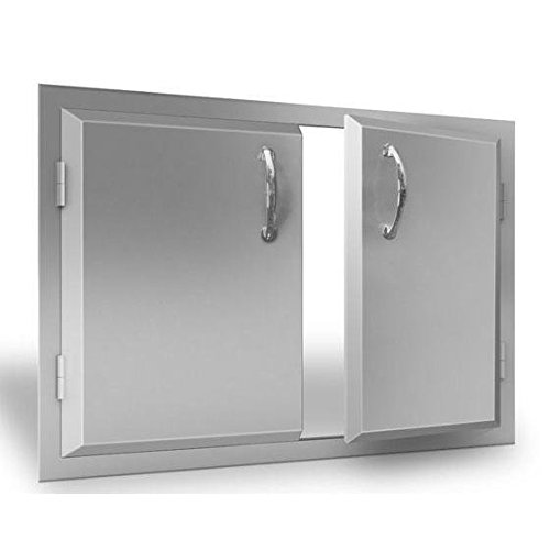 "Agape 30"" Wide Stainless Double Doors by RCS"
