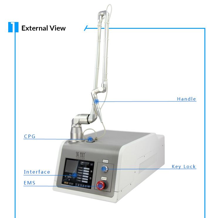 Portable anti wrinkle treatment 30W 10600nm fractional co2 machine
