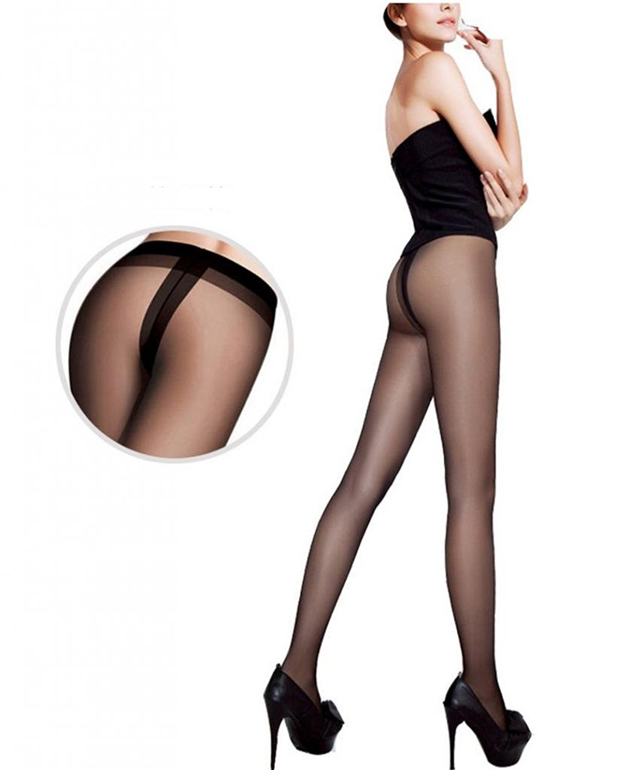 Meriling Women's Sheer to Waist with Leg Support T-thong Panty hose (pack of 2 pairs)