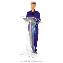 Cute Design 2017 Latest High End acrylic portable podium lectern / church podium for sale