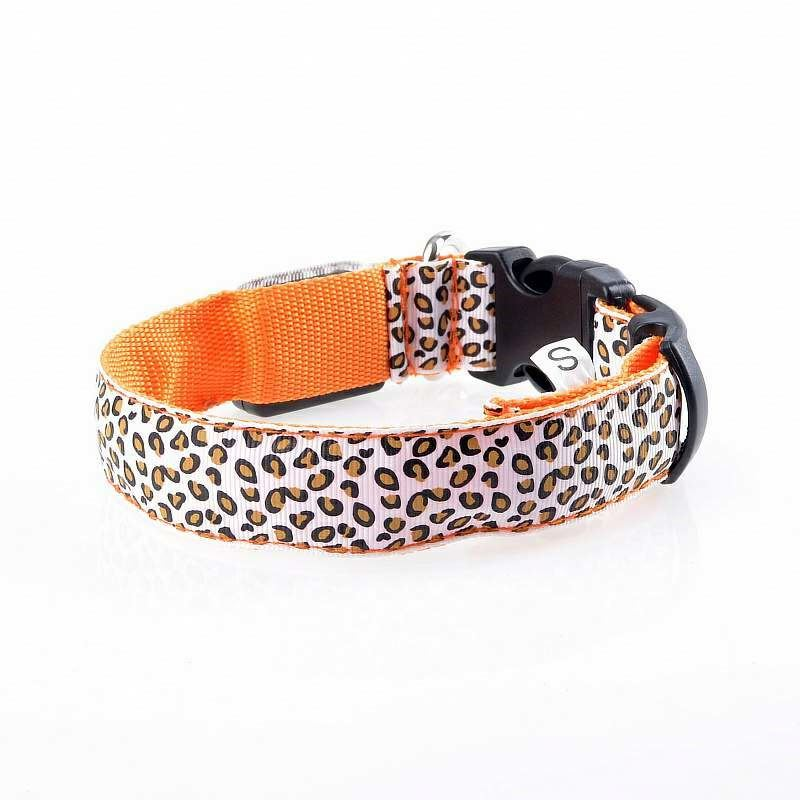 STOCK!!! custom print logo night light decorative dog collar TPU Strap