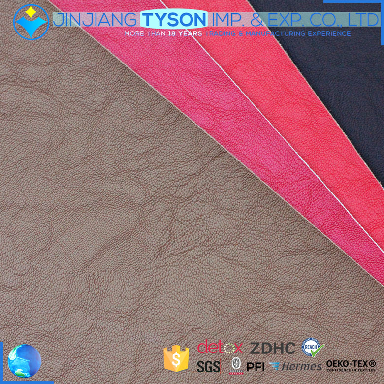 China manufacturer woven finished artificial synthetic leather for making handbags