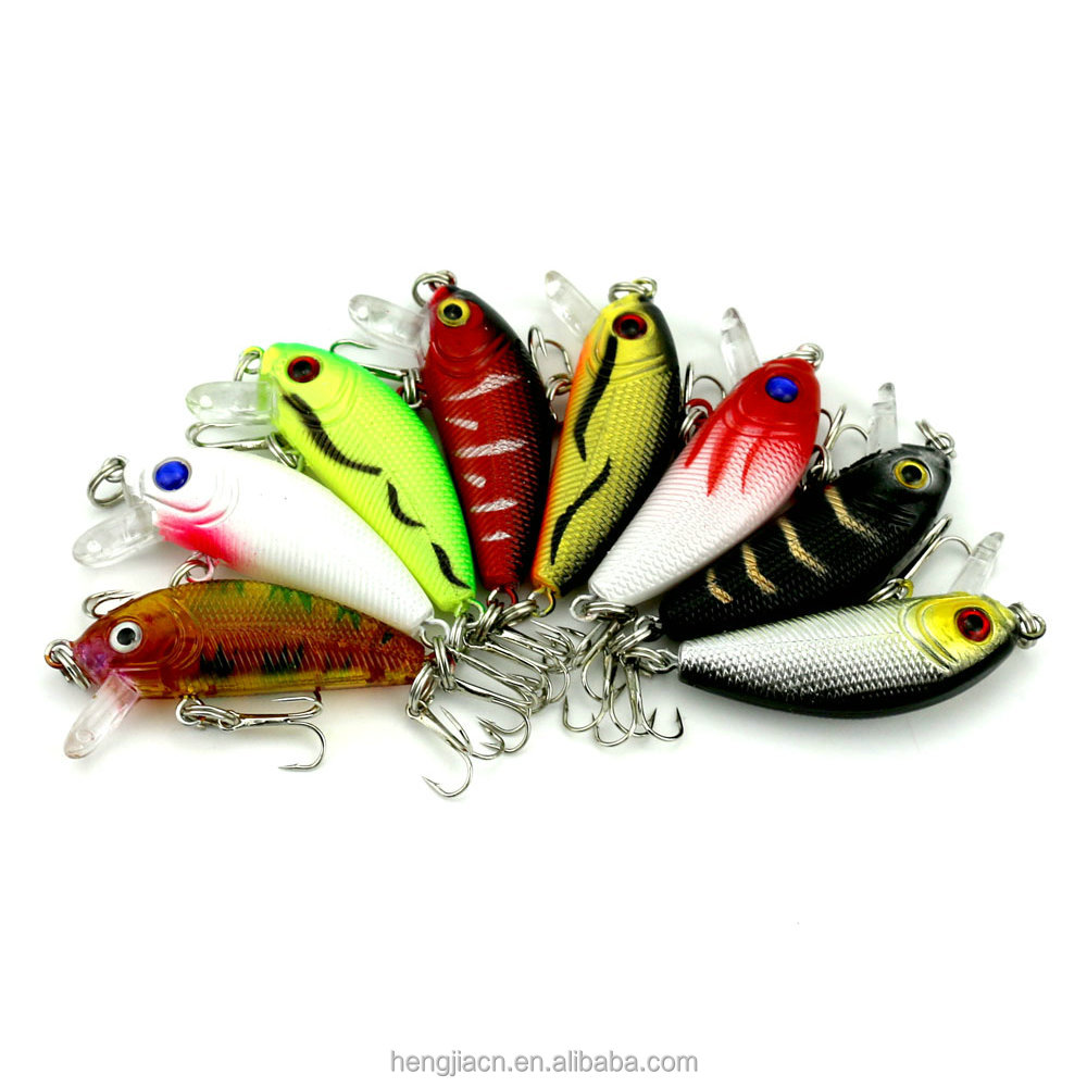 HENGJIA Wholesale Newest Colorful 3.6g 5cm Mini design artificial hard minnow lures fishing lure, 18 colours available/unpainted/customized