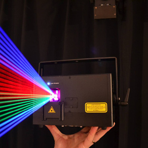 2018 Guangzhou stage lighting 5W RGB Full color Animation Laser Light spot light