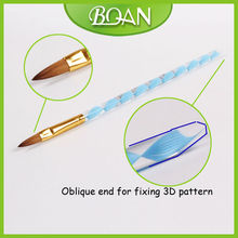 BQAN Blue Acrylic Handle 2012 Best Seller Kolinsky Acrylic Nail Brush