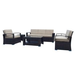 Superb Patio Outside Sectional Stackable Furniture Outdoor Knock Down Pe Rattan And Wickerr Sofa Set Inzonedesignstudio Interior Chair Design Inzonedesignstudiocom