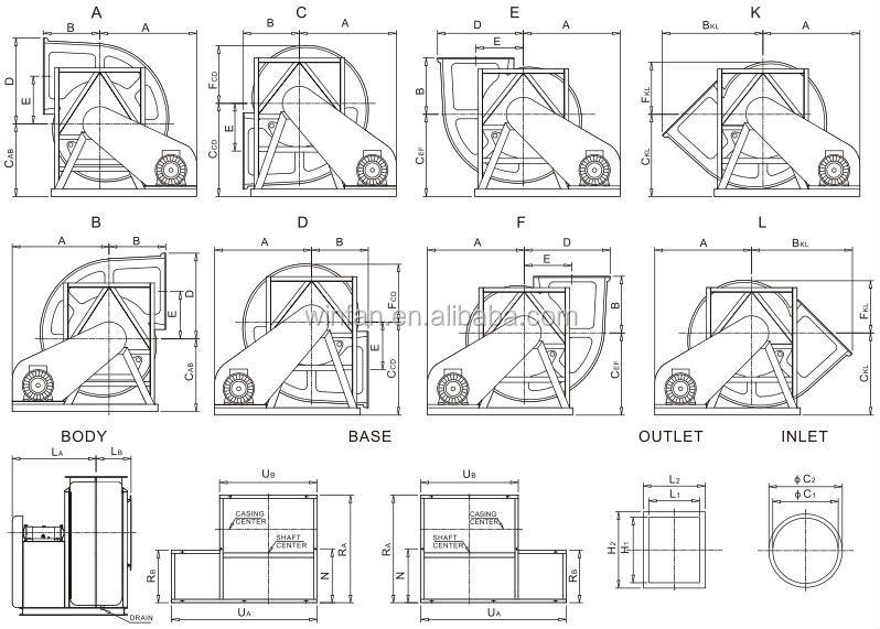 Winfan Quality-TF-361B FRP Industrial Centrifugal Fan high pressure high effeciency