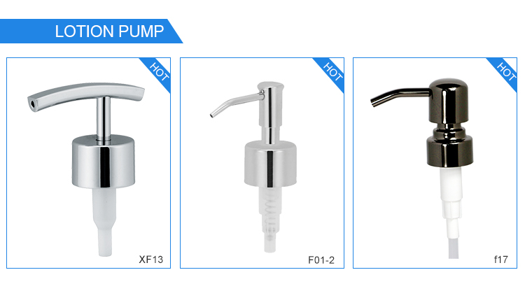 Stainless Steel Rose Gold Sauce Lotion Pump Dispenser Bulk Double Hand Nozzle Sprayer Pump For Clear 16oz Pet Glass Bottle
