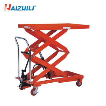 1000kg Double Scissor Hydraulic Mini Lift Platform Manual Lift Table