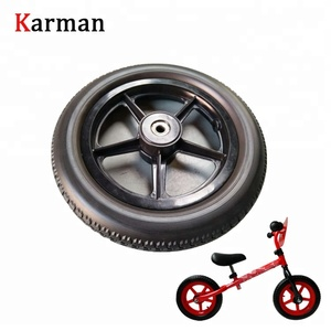 12 inch kinds bike PU foam solid wheel with plastic rim 12 1/2 * 2 1/4