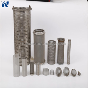 stainless steel wire mesh screen filter cylinder/johnson v wire screen (China manufacture)