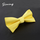 Good quality fashion style pure colour yellow bowtie handmade