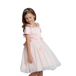 Online Clothes Shopping Tulle Stylish Frocks Flower Girls Dress Popular