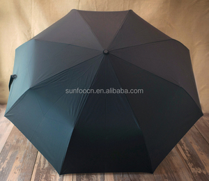 Sunfoo hot selling 27 inch golf size 3 folds auto open close umbrella