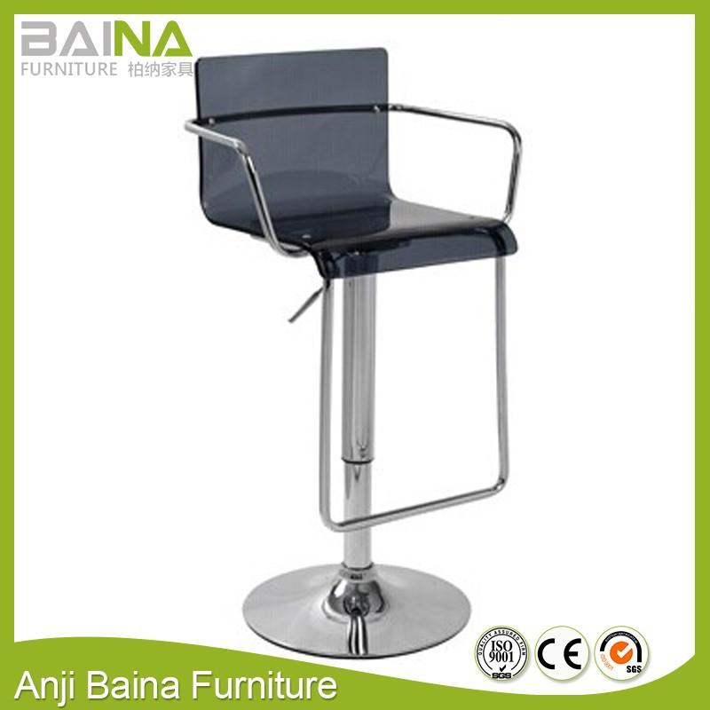 Alta giratoria transparente acrílico taburete silla con marco ...